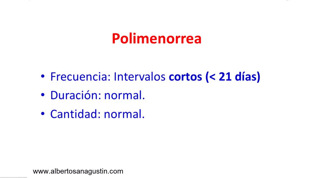 polimenorrea