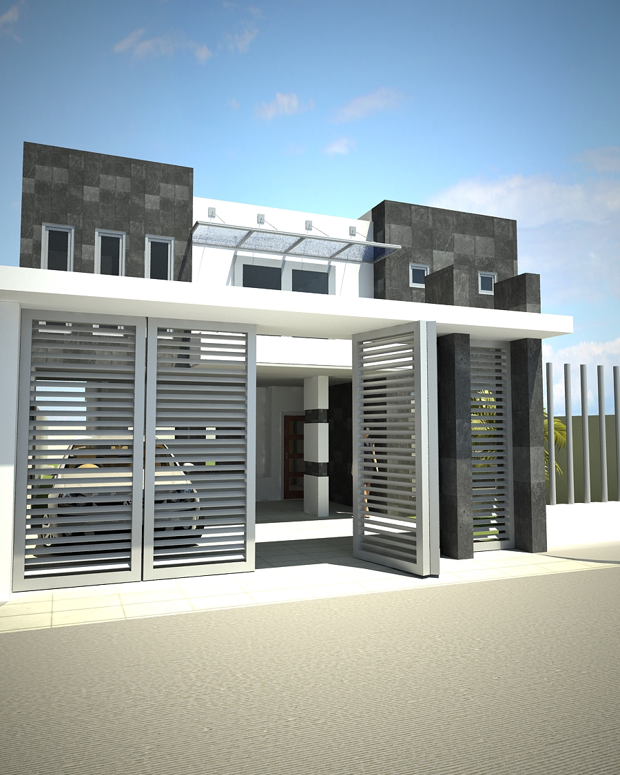 Proyectos arquitectonicos y dise o 3 d casa habitacion sr for Diseno de fachadas minimalistas