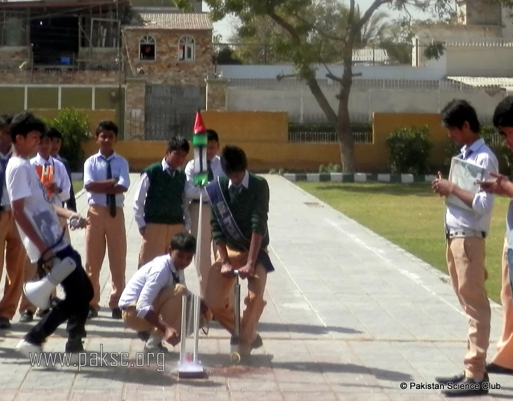 Photo Water Rocket Competition Rocket in action