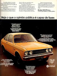 propaganda Dodge 1800 Polara - 1976. reclame de carros anos 70. brazilian advertising cars in the 70. os anos 70. história da década de 70; Brazil in the 70s; propaganda carros anos 70; Oswaldo Hernandez;