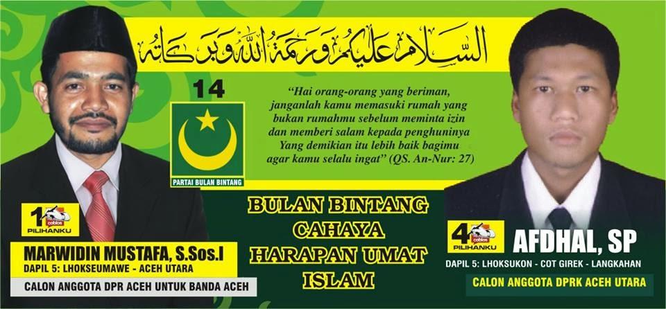 Calon Anggota DPR Kabupaten Aceh Utara Nomor Urut 4. Pemilu Legislatif 2014 DaPil-5 ; Lhoksukon, Cot Girek, Langkahan