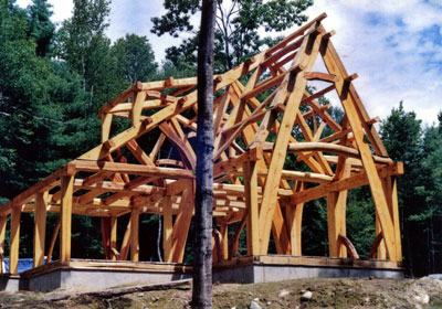 1000 images about cordwood and timber frame on pinterest for Cruck frame house plans