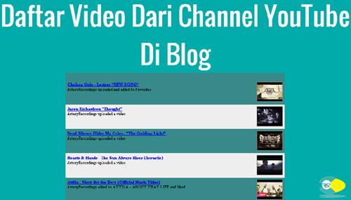 youtube uploaded video widget