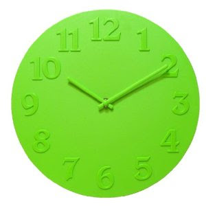 Vouge Lime Green Wall Clock