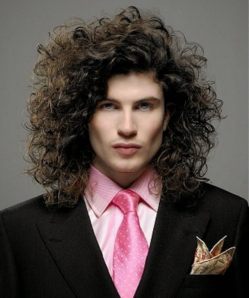 Long Hairstyles Men with Curly Hair