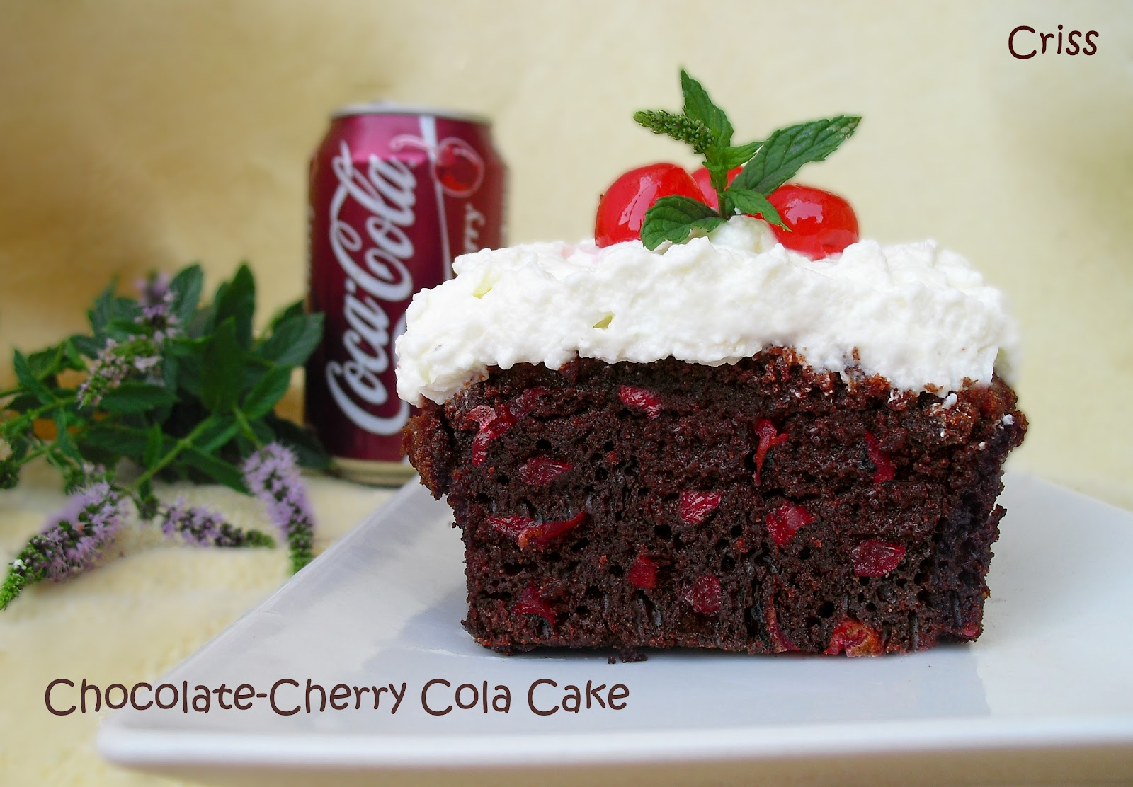 Chocolate-Cherry Cola Cake Recipe — Dishmaps