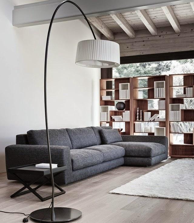 Modern Living Room Ideas Black Sofa In White