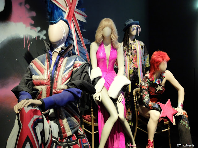 Bowie, Amanda Lear, Beatles et Punk inspiration british Jean-Paul Gaultier, expo JPG Grand Palais Paris