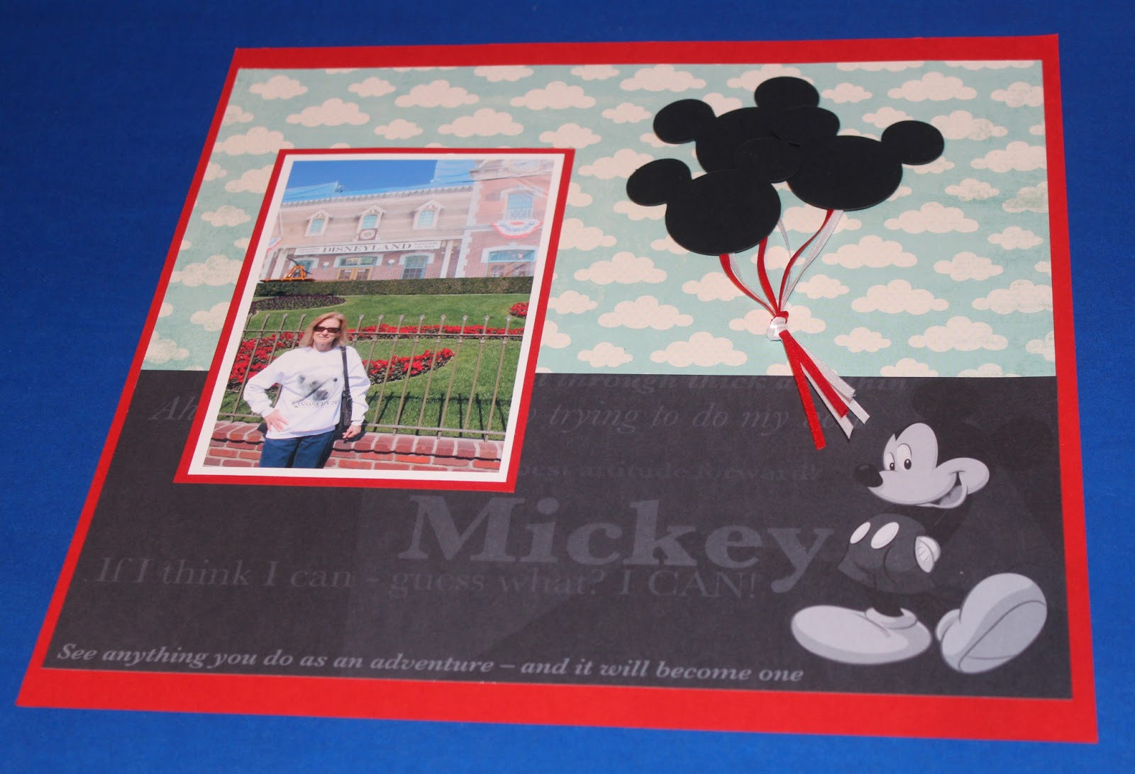 Scrapbook ideas adventure - I Ll Use The Mickey Mouse Balloons For Journaling