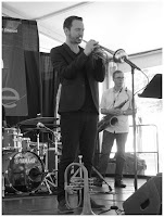 Chad McCullough - Trumpet - Spin Quartet - 2015 Chicago Jazz Festival   Photograph by Tom Bowser