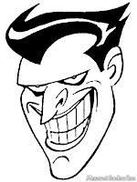 Mewarnai Gambar Topeng Wajah Joker