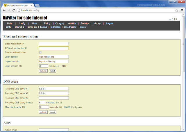 Download NxFilter-Software filtrare DNS