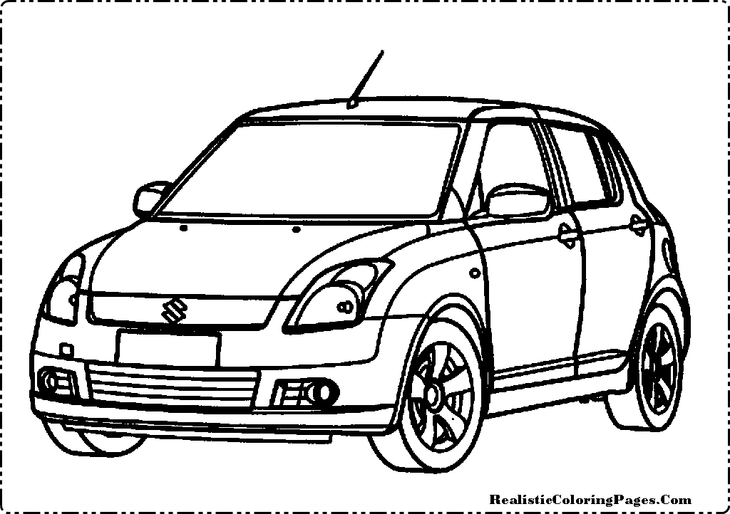 Realistic Car Coloring Pages : Suzuki cars coloring pages realistic