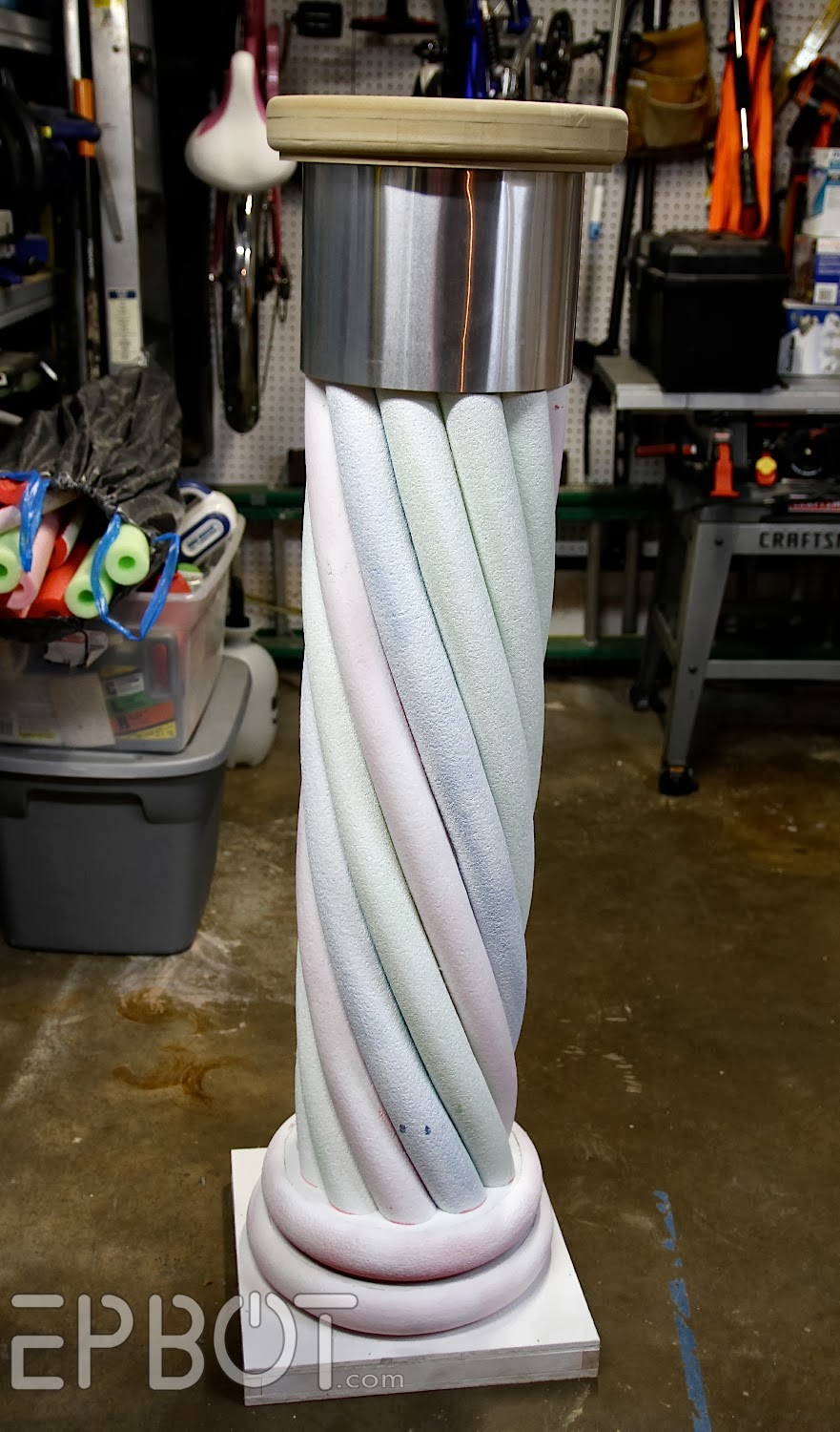 Making Stone Pillars : Epbot make your own quot stone decorative column with