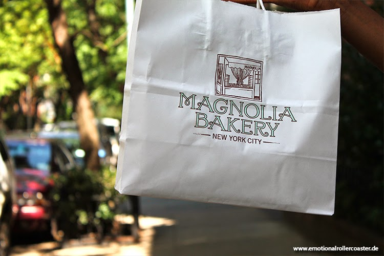 The Magnolia Bakery (Sex and the City) auf der Bleecker Street in New York.