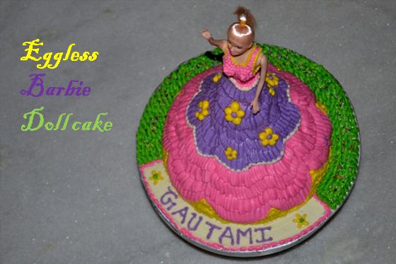 Vaniensamayalarai Eggless Barbie Doll cake Vanilla Doll Cake Recipe