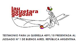 LHG * Adhesión a la querella Argentina