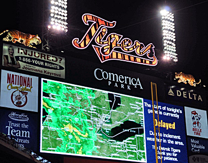 Map of the Week: Fans Boo Radar Map at Comerica Park