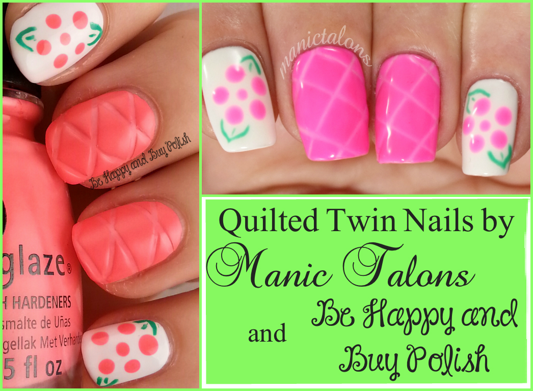 Manic Talons Nail Design: Quilted Twin Nails with Traditional and ...