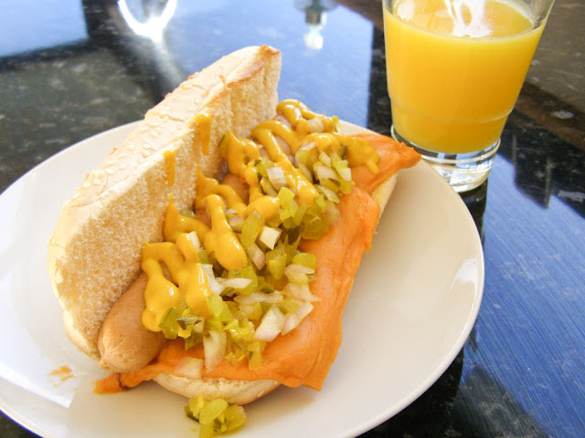 Vegan Cheese Dog.