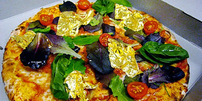White truffle and gold pizza —2.420 dolar