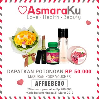 Get IDR 50.000 Off on asmaraku.com