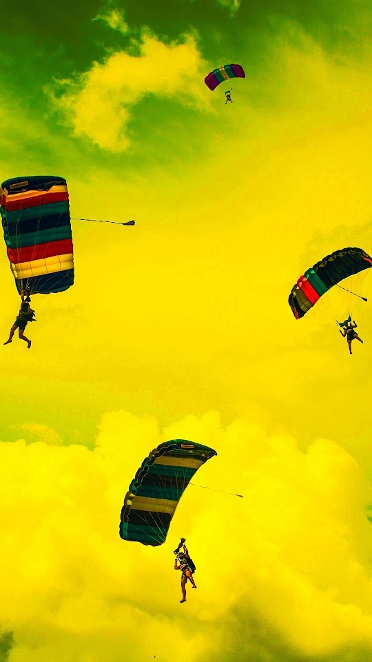 Skydive Parachuting Galaxy Note HD Wallpaper