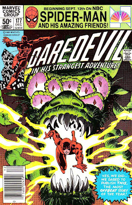 Daredevil v1 #177 marvel comic book cover art by Frank Miller