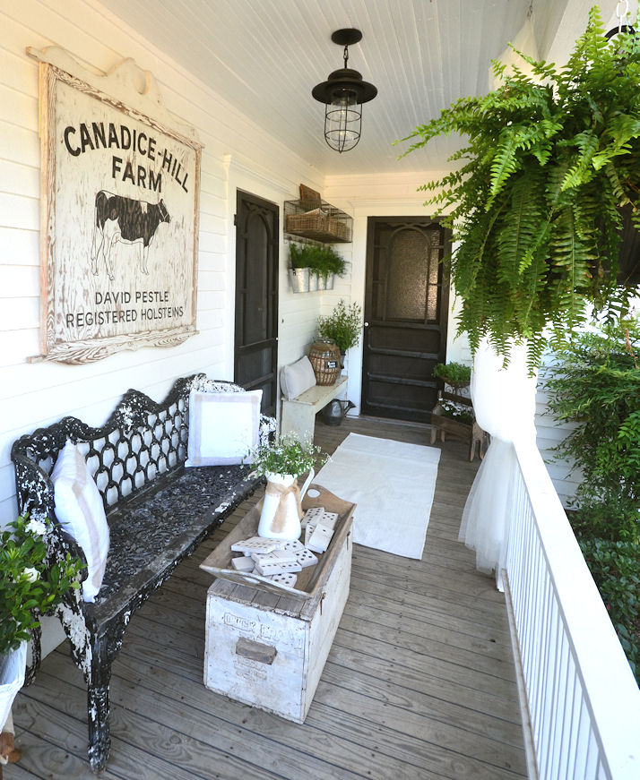Farmhouse Front Porch Ideas: LaurieAnna's Vintage Home: Back Door Guests Are Best
