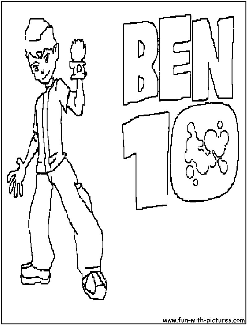 cartoons coloring pages ben 10 coloring pages
