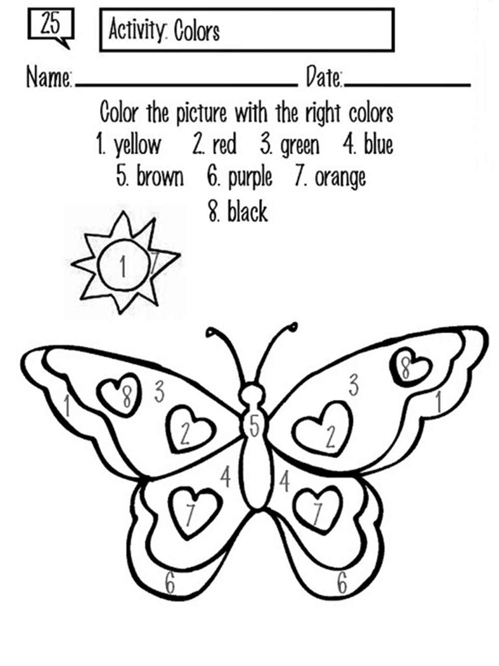 Atractivo Hojas Para Colorear De Mariposa Modelo - Dibujos Para ...