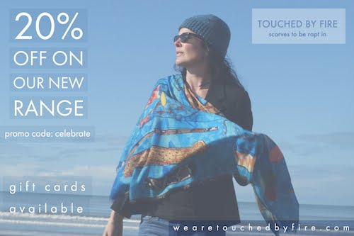 20% off at Touched by Fire