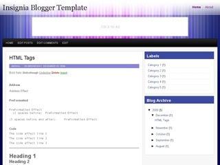 Insignia Blogger Template