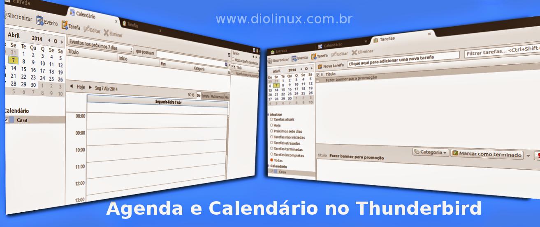 Calendário e Agenda no Thunderbird