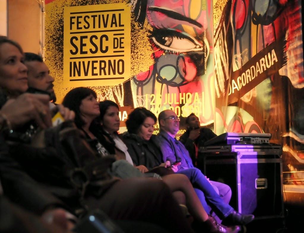 O espaço cultural recebeu decoração especial, temática,  para marcar a abertura do festival 2014