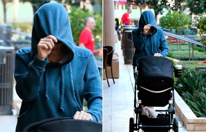 Scarlett Johansson se esconde dos paparazzis