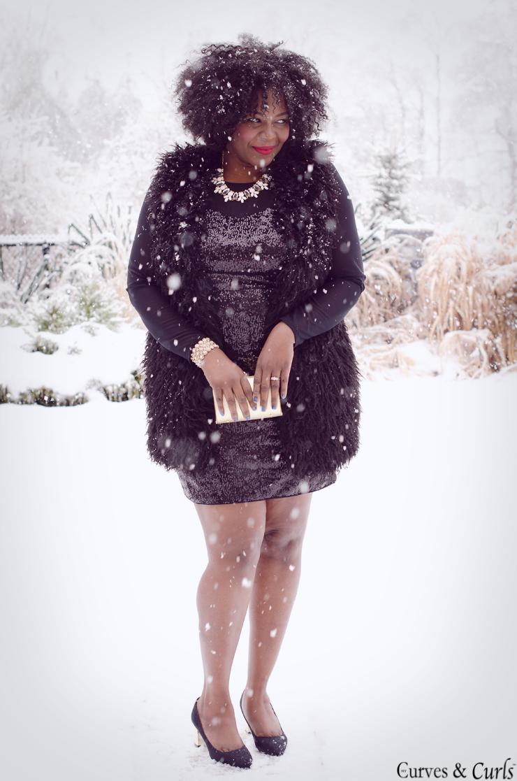 #Plussize Fashion #how to wear a fur vest