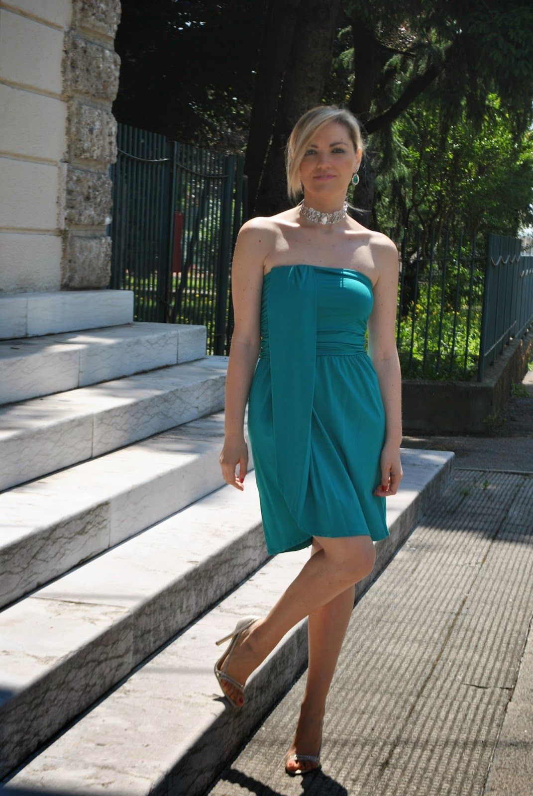 Célèbre Color-Block By FelyM.: OUTFIT: GREEN ELEGANT SUMMER DRESS / COME  HX77