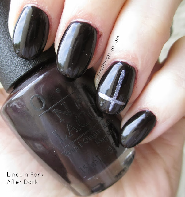 OPI Lincoln Park After Dark, swatch, @girlythingsby_e