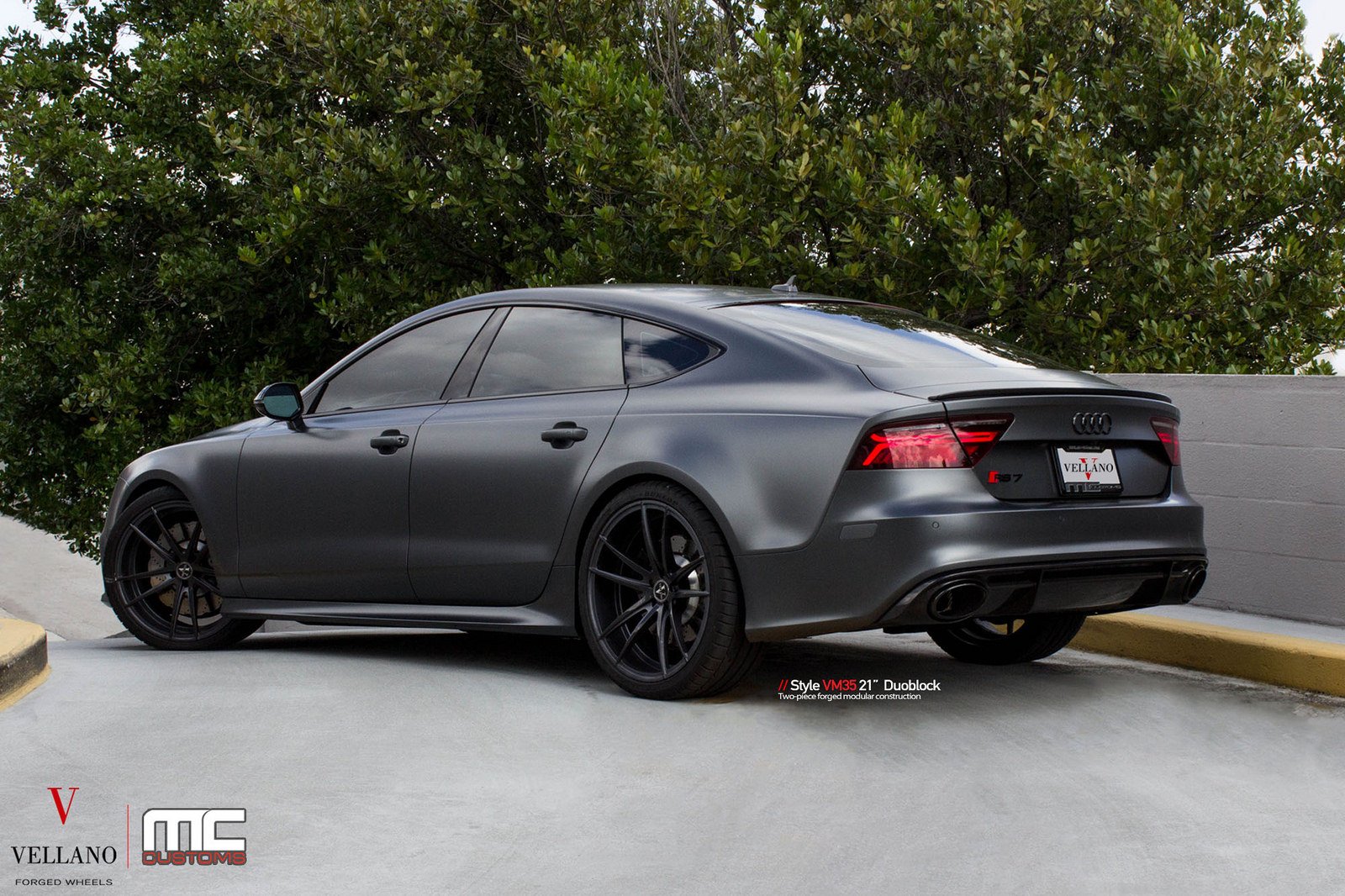 satin grey audi rs7 on vellano wheels is a supercar slayer carscoops. Black Bedroom Furniture Sets. Home Design Ideas