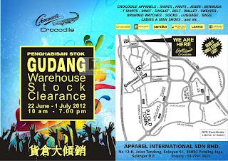 Crocodile Warehouse Stock Clearance 2012