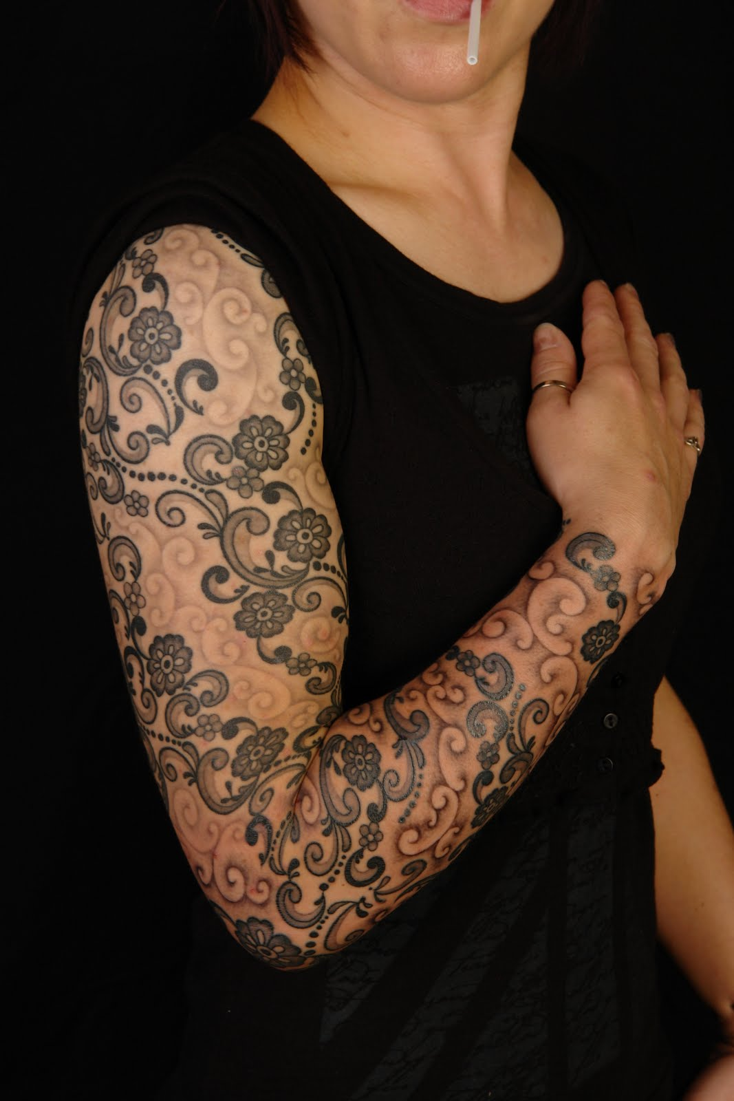 Lace Tattoo Designs for Women
