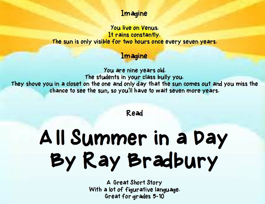 all summer in a day theme essay buy essay creativelacommoncore pot com all summer in a day a great short story figurative language