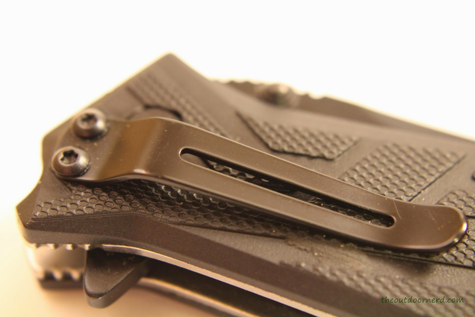 Kershaw Brawler Pocket Knife Close Up Of Clip 1