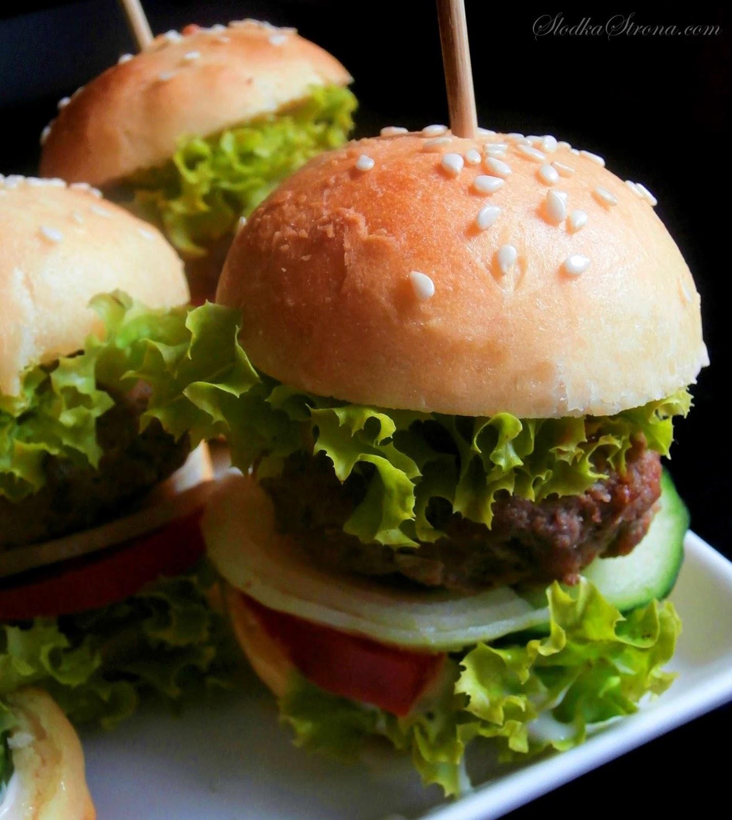 Hamburgery przystawka na przyjecie