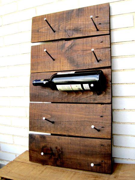 Qu hacer con palets parte i botellero - Botelleros de madera rusticos ...