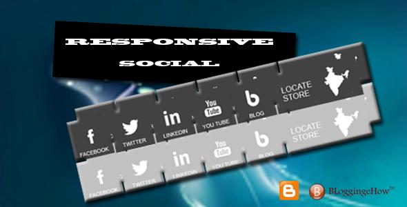 Responsive Spirit Social Profile Buttons