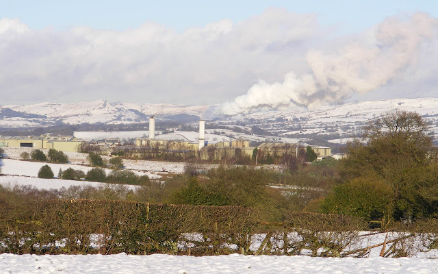 View at Cauldon overlooking the quarry works.