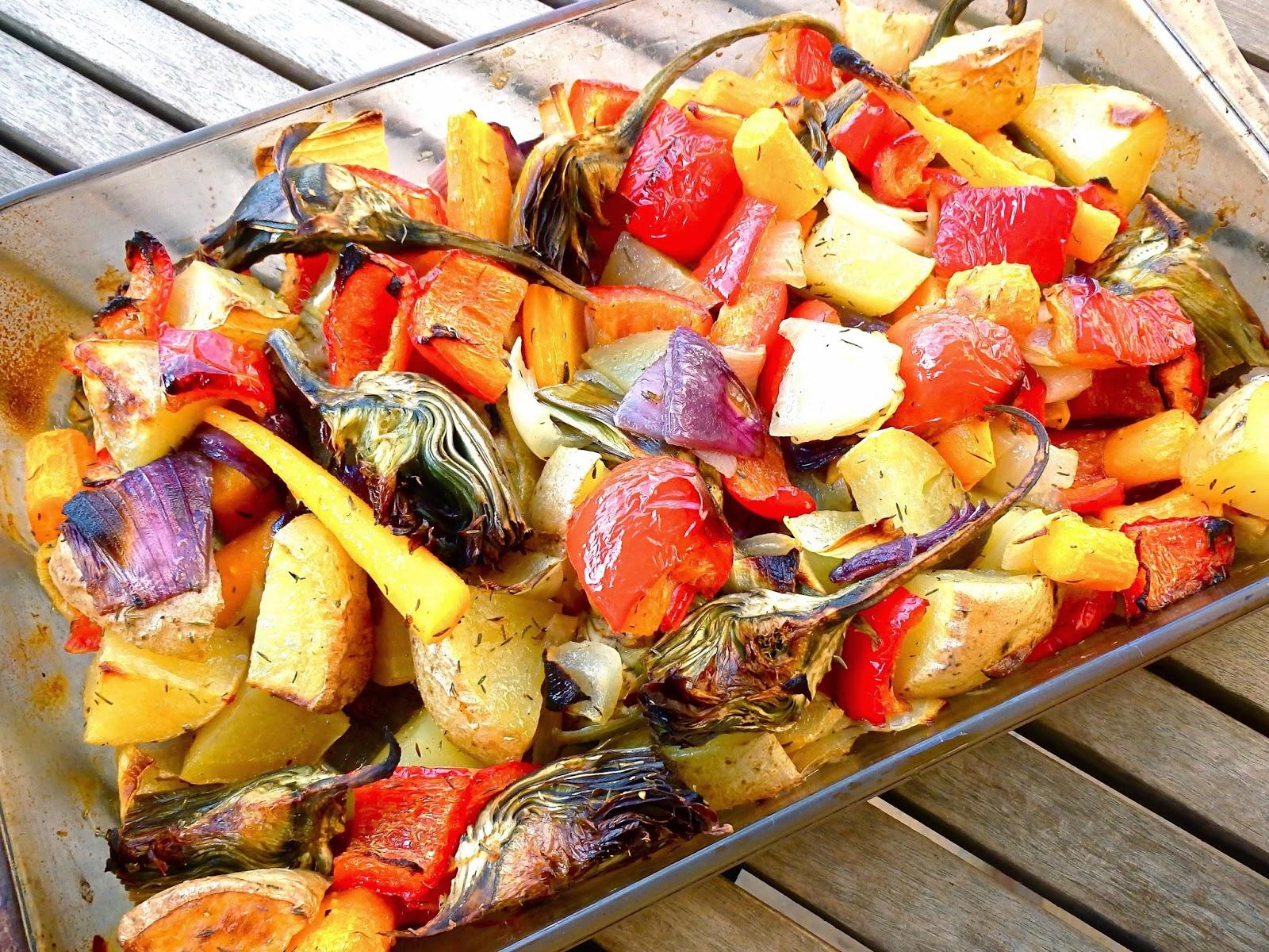 Verduras al horno receta light - Salsa para verduras al horno ...