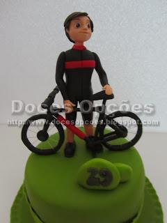 Bolo aniversário ciclista bragança
